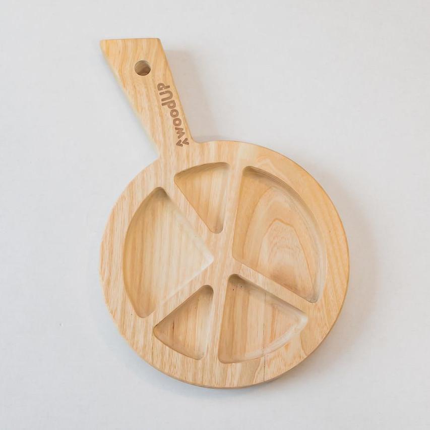 Misa drewniana z przegródkami